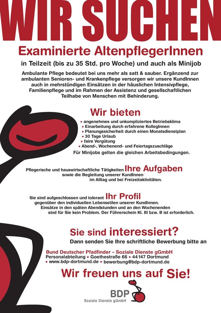 Examinierte AltenpflegerIn m/w