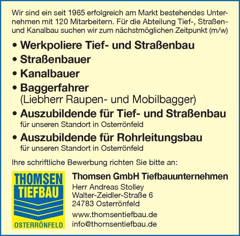 Straßenbauer (m/w)