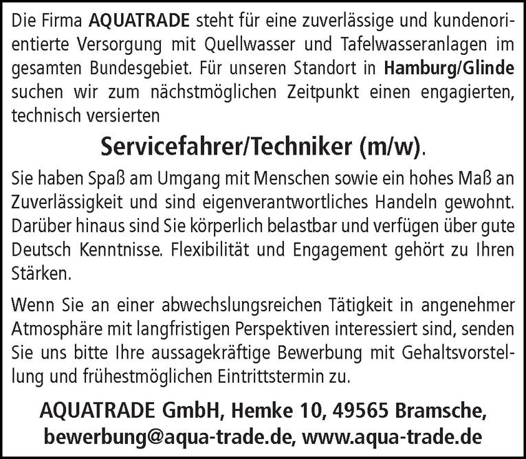 Servicefahrer/Techniker (m/w)