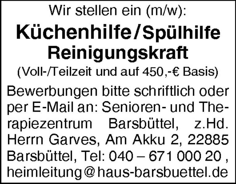 Küchenhilfe / Spülhilfe