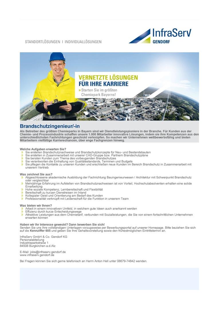 Brandschutzingenieur/-in