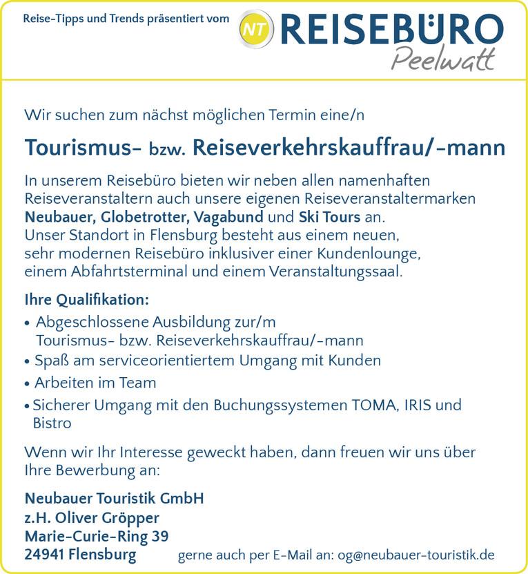 Tourismus-/ Reiseverkehrskauffrau/-mann