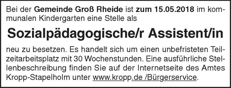 Sozialpädagogische/r Assistent/in