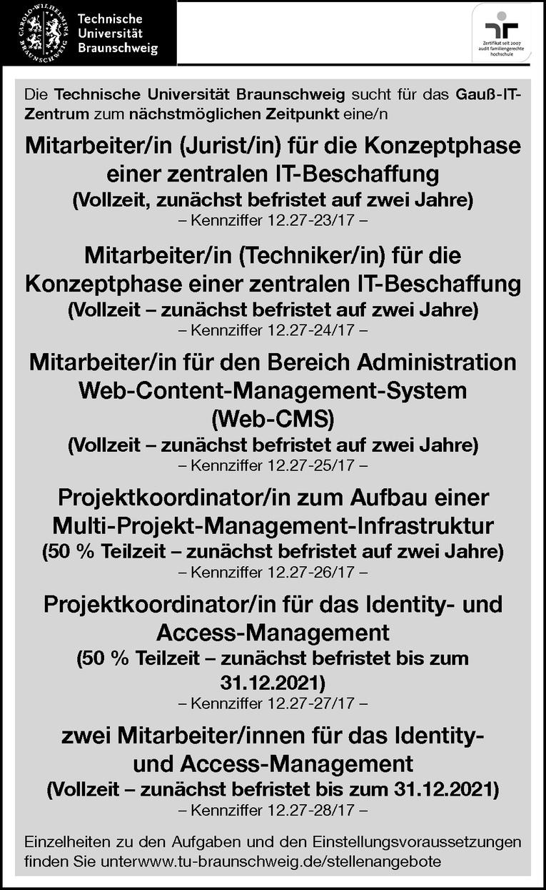 Mitarbeiter/in für den Bereich Administration