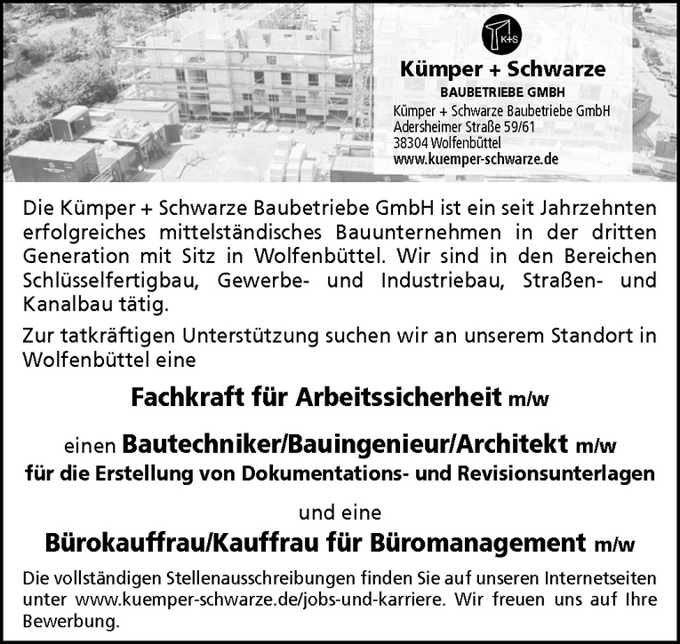 Bautechniker / Bauingenieur / Architekt (m/w)