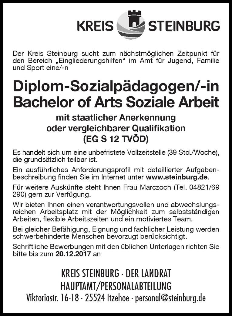 Diplom-Sozialpädagogen/-in Bachelor of Arts Soziale Arbeit