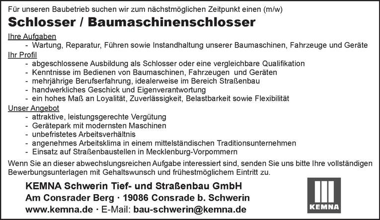 Schlosser / Baumaschinenschlosser