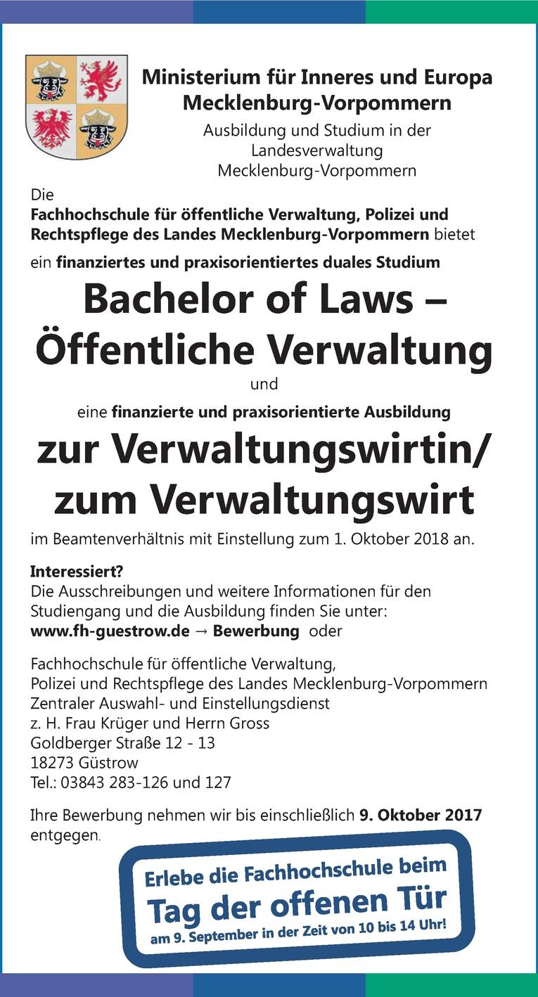 Ausbildung zur Verwaltungswirtin/ zum Verwaltungswirt