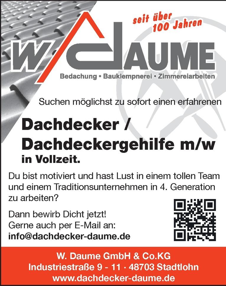 Dachdecker / Dachdeckergehilfe m/w