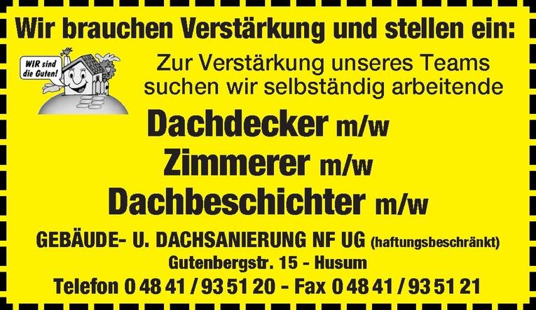 Dachdecker m/w