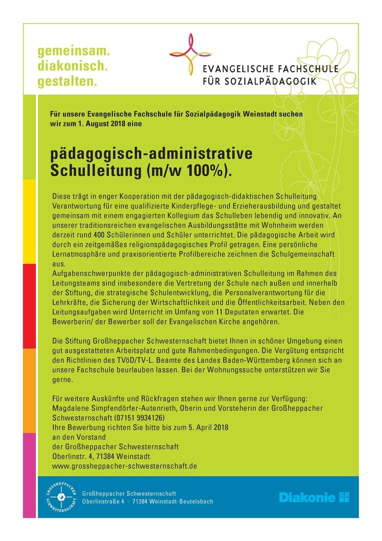 pädagogisch-administrative Schulleitung (m/w 100%)