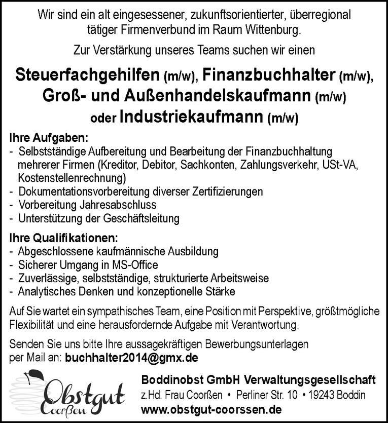 Groß- und Außenhandelskaufmann (m/w) / Industriekaufmann (m/w)
