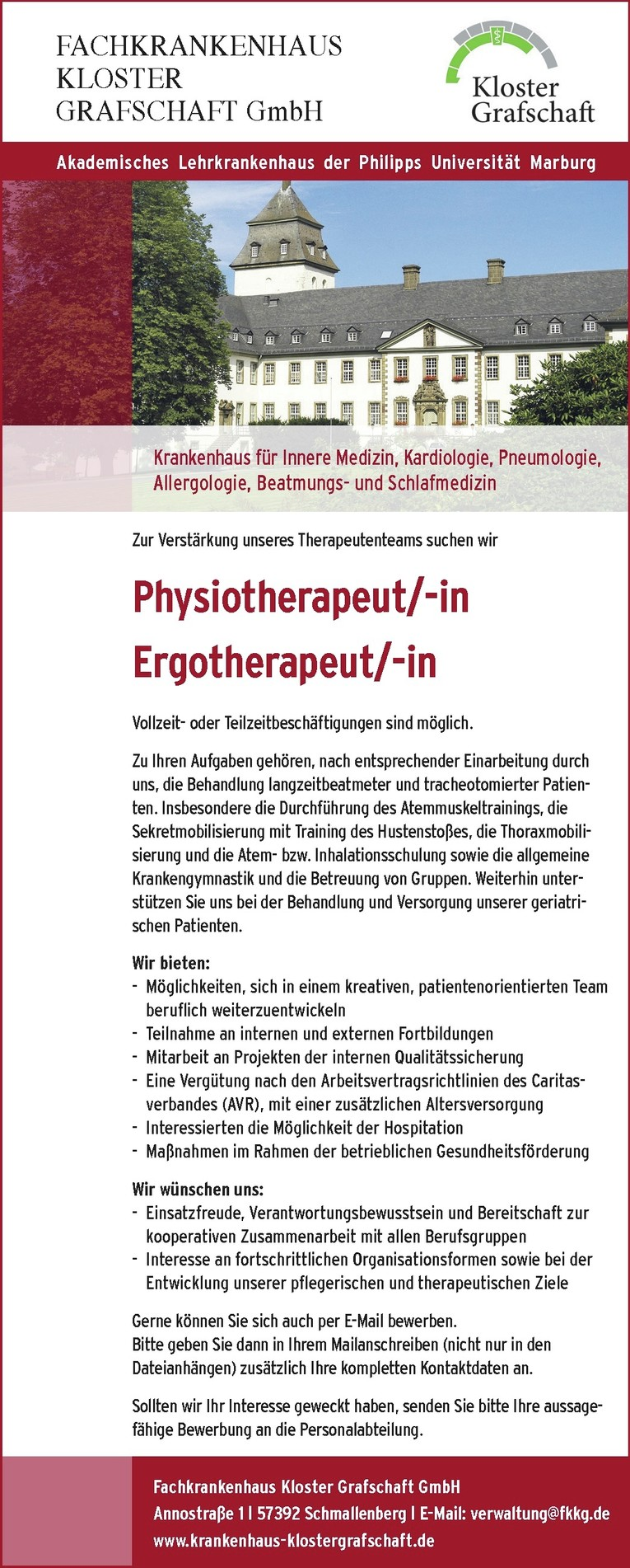 Physiotherapeut/-in und Ergotherapeut/-in
