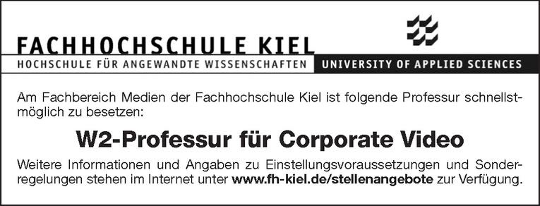 W2-Professur für Corporate Video