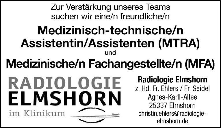 Medizinisch-technische/n Assistentin/Assistenten (MTRA)