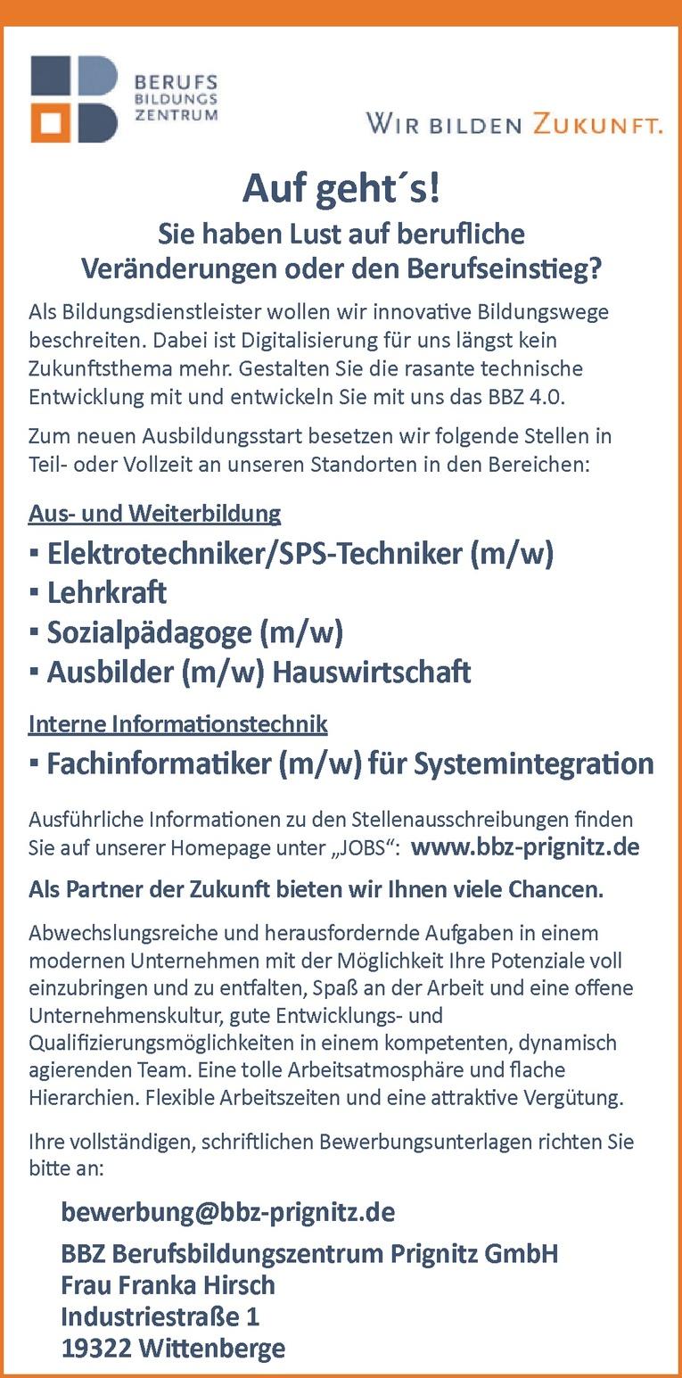 Ausbildung: Elektrotechniker/SPS-Techniker (m/w)