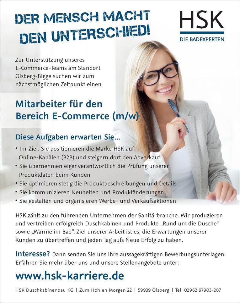 Mitarbeiter für den Bereich E-Commerce (m/w)
