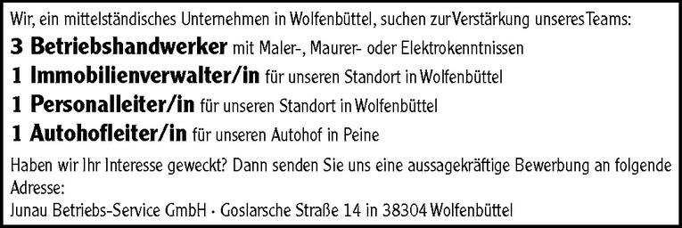 Betriebshandwerker mit Maler-, Maurer- oder Elektrokenntnissen (m/w)