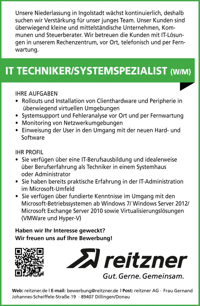 IT-Techniker / Systemspezialist (m/w)