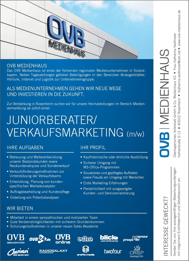 Juniorberater/Verkaufsmarketing (m/w)