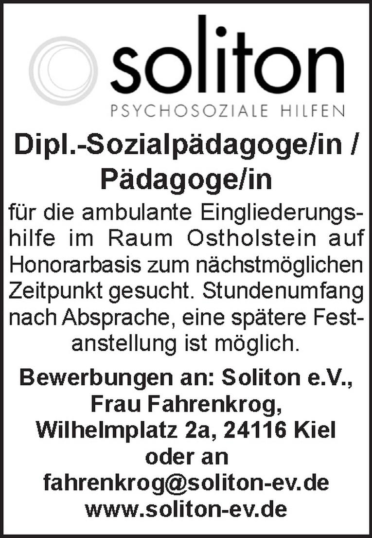 Dipl.-Sozialpädagoge/in / Pädagoge/in