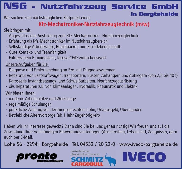 Kfz-Mechatroniker-Nutzfahrzeugtechnik (m/w)