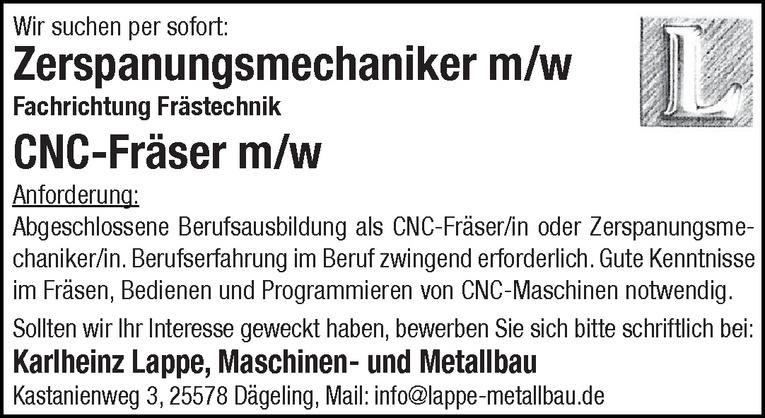 CNC-Fräser m/w