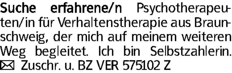 Psychotherapeuten/in