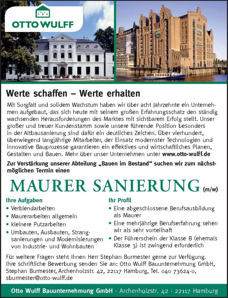 MAURER SANIERUNG (m/w)