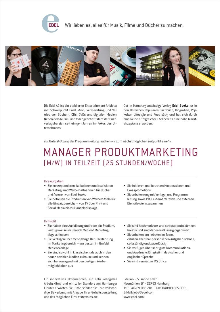 Manager Produktmarketing (m/w)