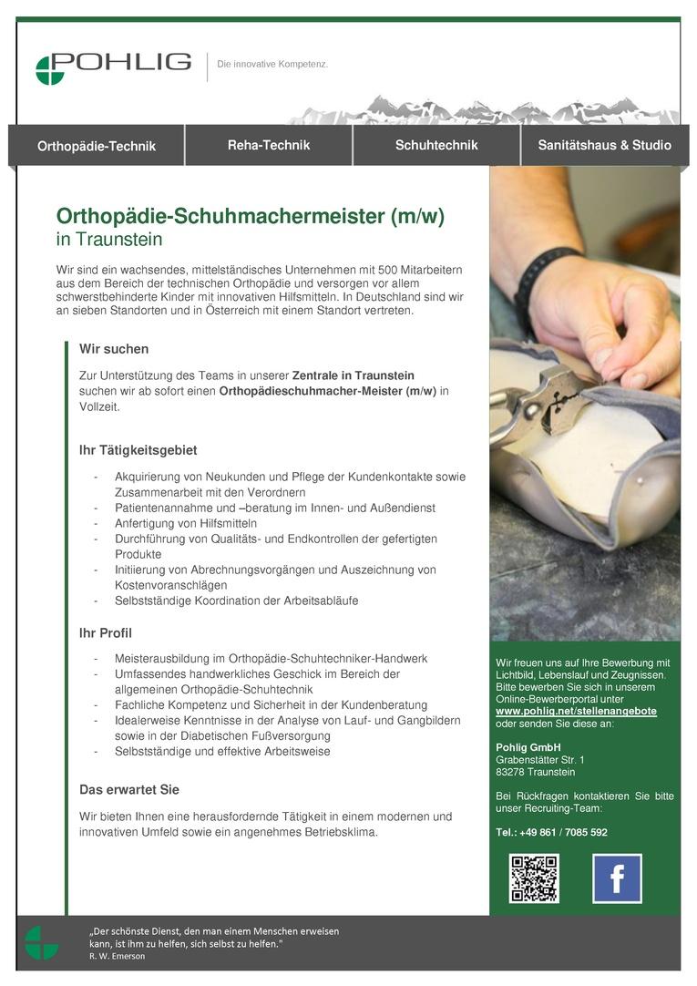 Orthopädie-Schuhmachermeister (m/w)