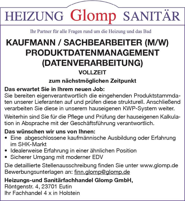 Kaufmann / Sachbearbeiter (m/w)