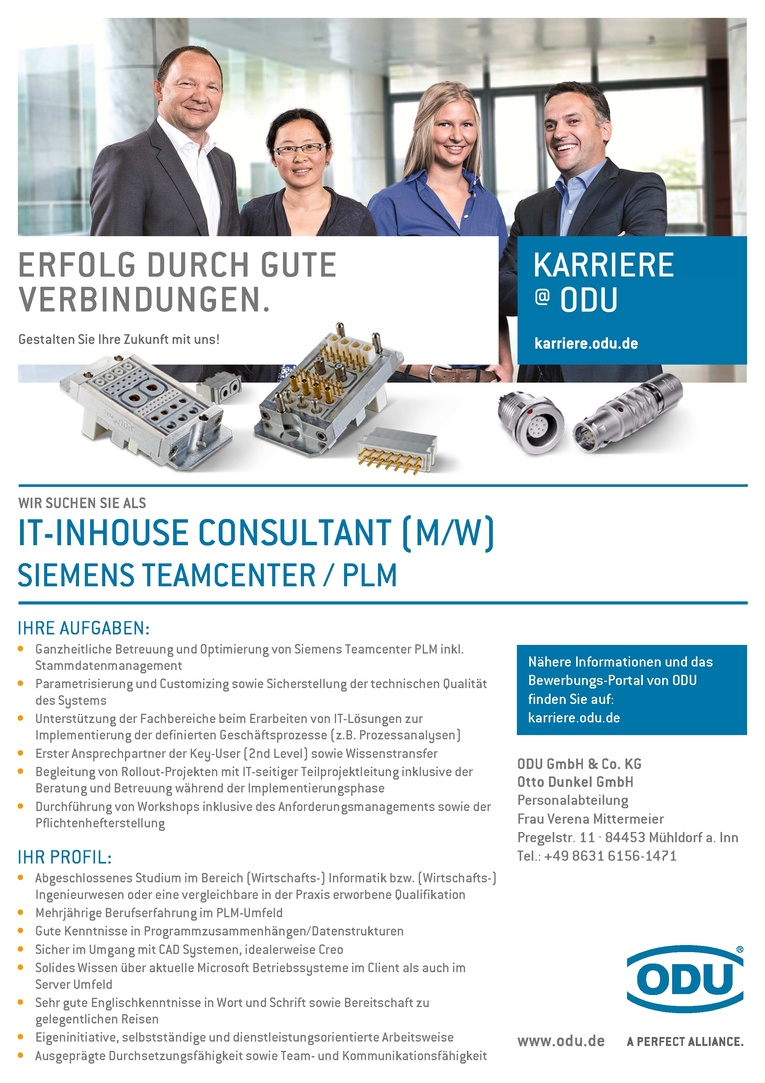 IT-Inhouse Consultant (m/w) Siemens Teamcenter / PLM