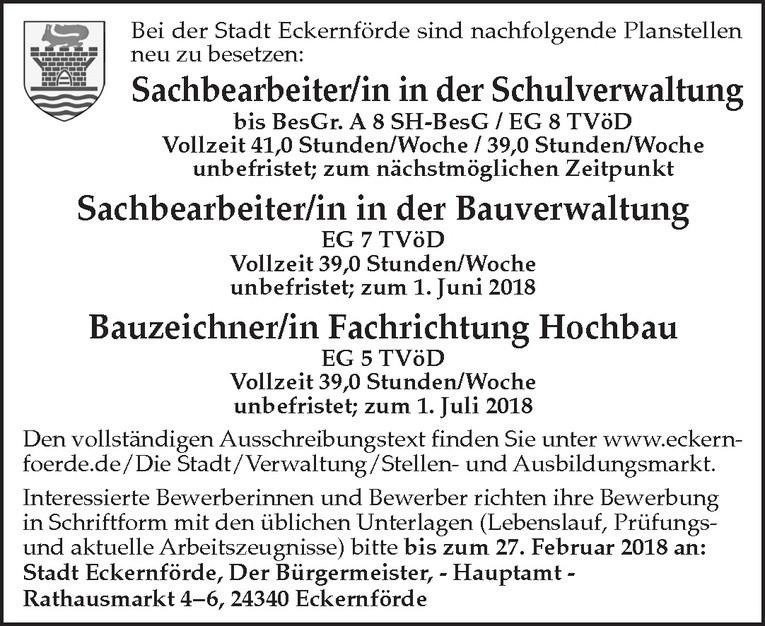 Sachbearbeiter/in in