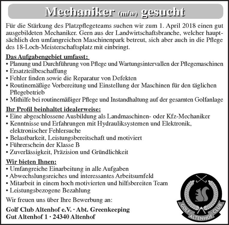 Mechaniker (m/w)