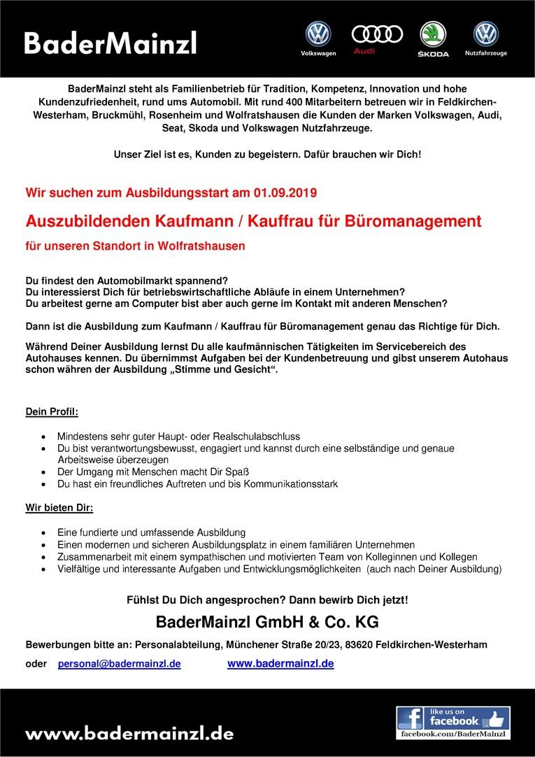 azubi 2019 kaufmann kauffrau fr bromanagement - Bewerbung Ausbildung Kauffrau Fur Buromanagement