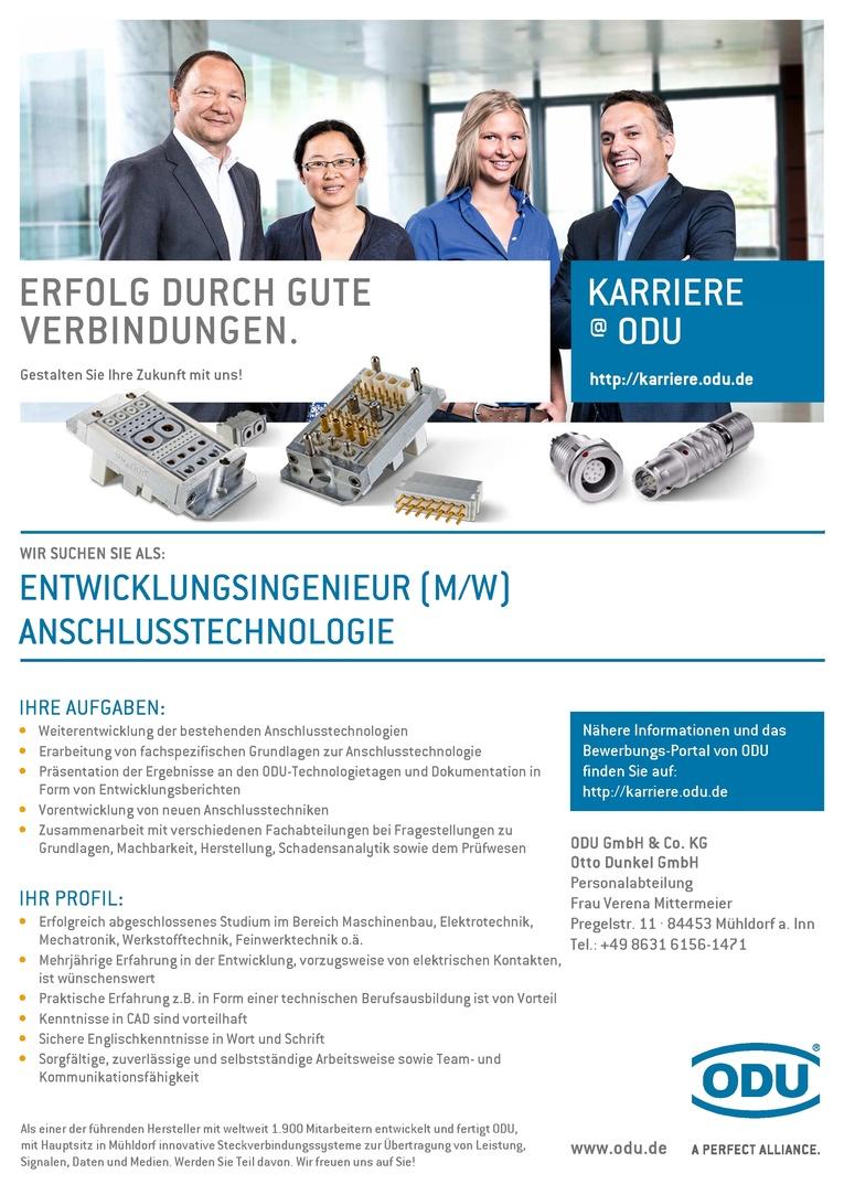 Entwicklungsingenieur (m/w) Anschlusstechnologie
