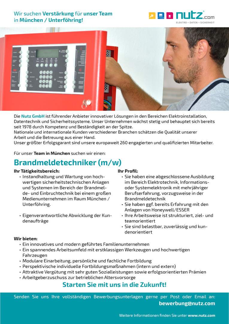 Elektroniker (m/w) in München Unterföhring