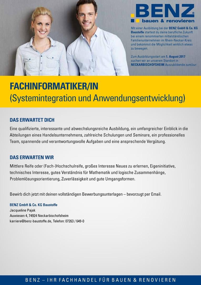 Ausbildung: Fachinformatiker/in (Systemintegration oder Anwendungsentwicklung)