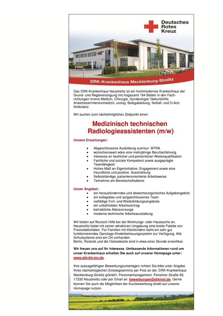 Medizinisch-technischer Radiologieassistent (m/w)