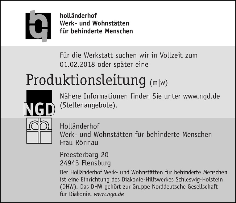 Produktionsleitung (m/w)