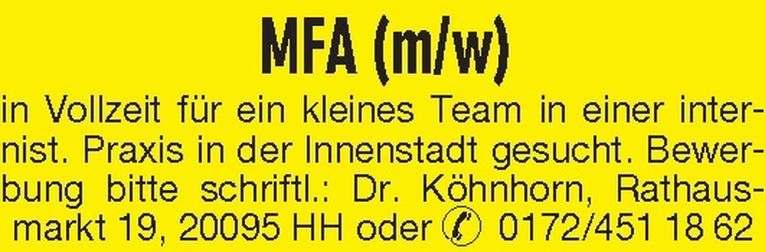MFA (m/w)