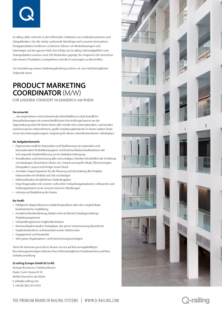 Product Marketing Coordinator (m/w)