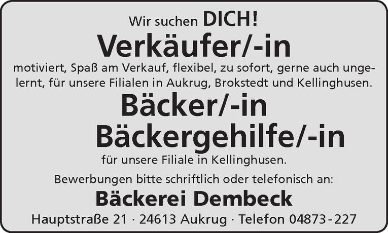 Bäckergehilfe/-in