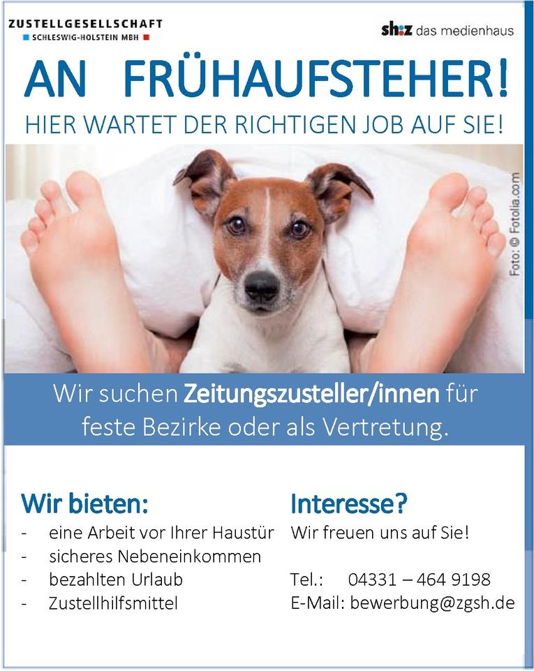 Tageszeitungszusteller/in