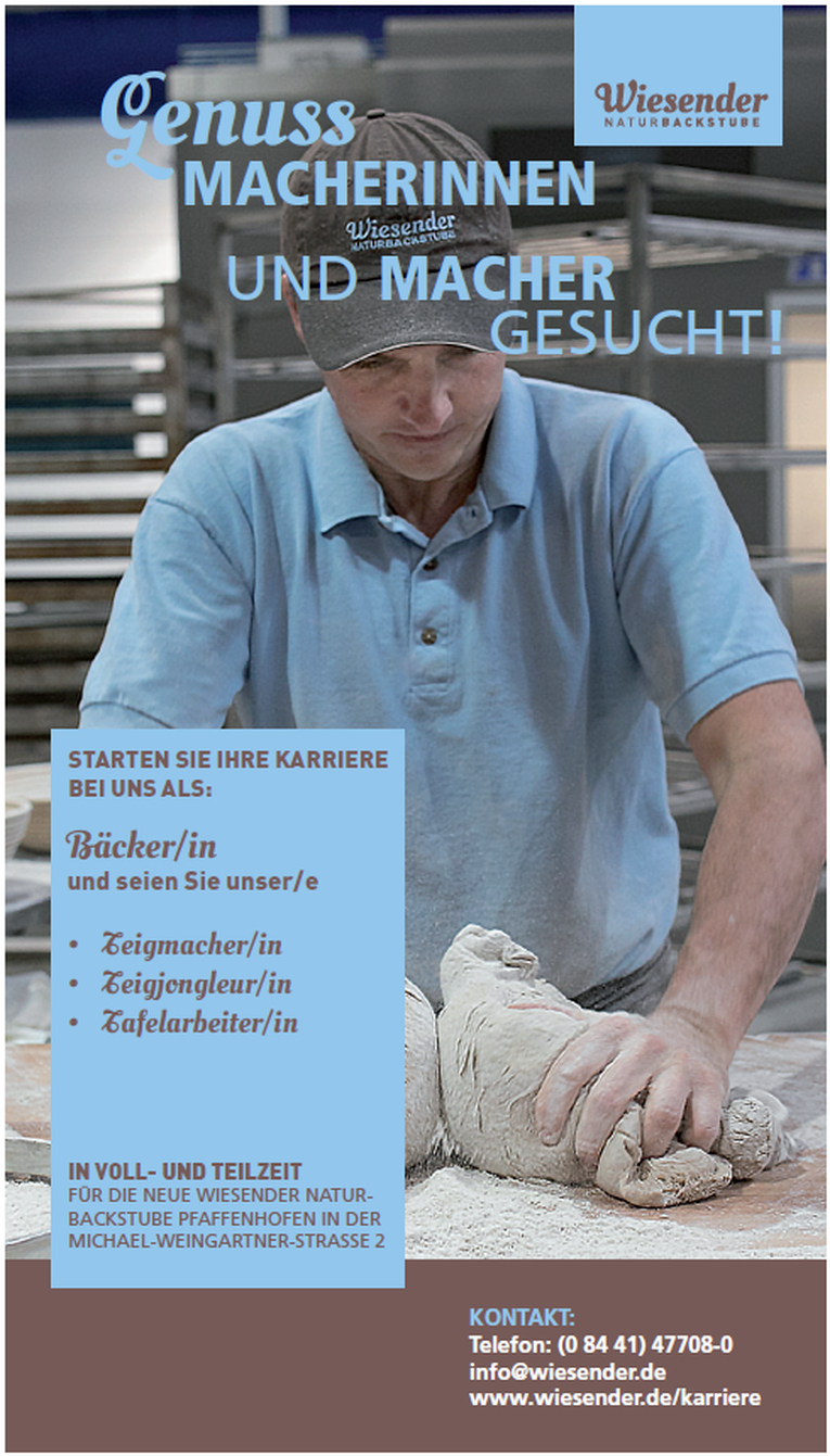 Bäcker Geselle (m/w) in Pfaffenhofen a.d. Ilm