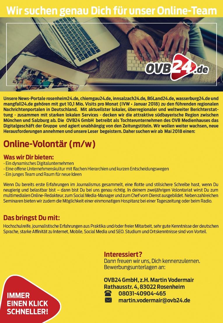 Online-Volontär (m/w)