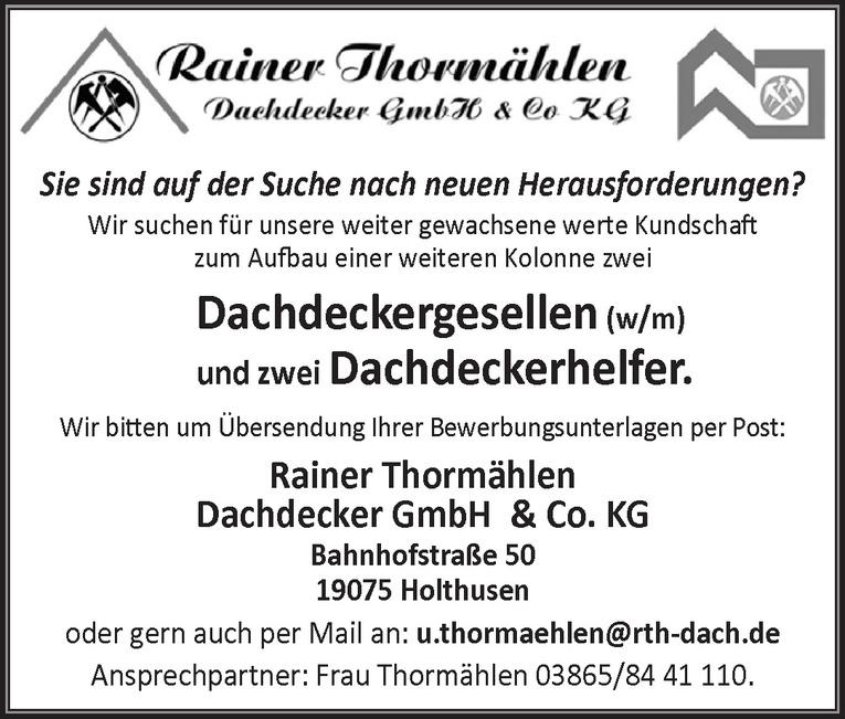 Dachdeckerhelfer (w/m)