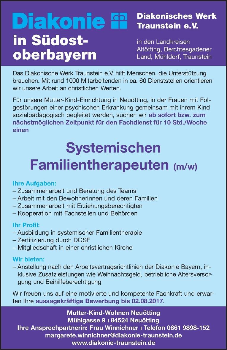 Systemischen Familientherapeuten (m/w)