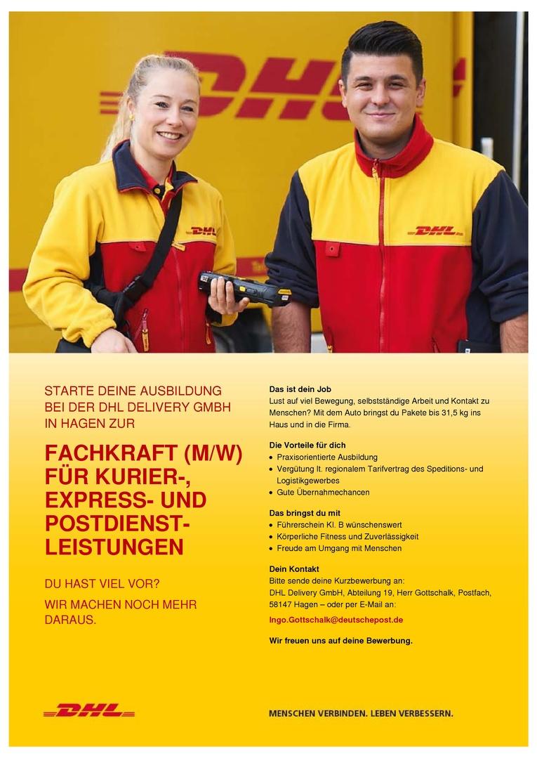 Fachkraft (m/w) für Kurier-, Express- und Postdienstleistungen